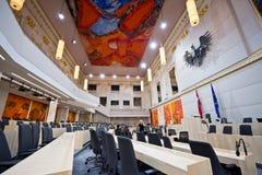 Το αυστριακό Κοινοβούλιο στο παλάτι Hofburg Στοκ φωτογραφία με δικαίωμα ελεύθερης χρήσης