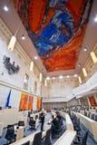 Το αυστριακό Κοινοβούλιο στο παλάτι Hofburg Στοκ Εικόνα