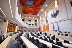 Το αυστριακό Κοινοβούλιο στο παλάτι Hofburg Στοκ εικόνες με δικαίωμα ελεύθερης χρήσης