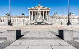 Το αυστριακό Κοινοβούλιο στη Βιέννη, Αυστρία Στοκ εικόνες με δικαίωμα ελεύθερης χρήσης