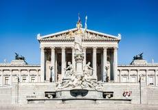 Το αυστριακό Κοινοβούλιο στη Βιέννη, Αυστρία Στοκ φωτογραφία με δικαίωμα ελεύθερης χρήσης