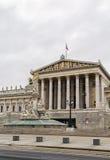 το αυστριακό χτίζοντας Κοινοβούλιο Βιέννη στοκ εικόνες