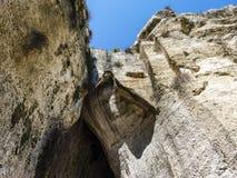 Το αυτί Dionysius, αρχαίες Συρακούσες στη Σικελία, Ιταλία στοκ εικόνα