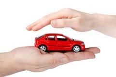 το αυτοκίνητο δίνει το κόκκινο Στοκ Φωτογραφία