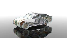 Το αυτοκίνητο δημιουργείται από τα χρήματα, η έννοια της χρηματοδότησης της αυτοκινητοβιομηχανίας, που δανείζει στην αγορά των αυ ελεύθερη απεικόνιση δικαιώματος