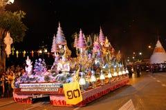 Το αυτοκίνητο διακοσμήσεων στο φεστιβάλ Loy Kra Tong Στοκ φωτογραφία με δικαίωμα ελεύθερης χρήσης