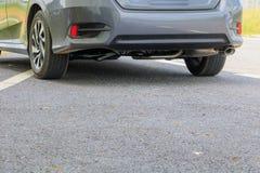 Το αυτοκίνητο στο δρόμο με το διάστημα αντιγράφων προσθέτει το κείμενο Στοκ φωτογραφία με δικαίωμα ελεύθερης χρήσης