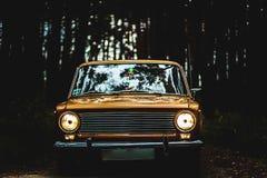 Το αυτοκίνητο των σοβιετικών χρονικών αυτοκινήτων Στοκ Φωτογραφίες