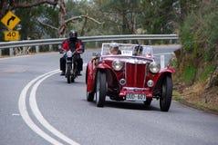 το αυτοκίνητο mg του 1948 τρέχει τον τρύγο TC Στοκ Εικόνες