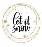Το αφήστε να χιονίσει διανυσματικό διανυσματικό πρότυπο αφισών Στοκ φωτογραφία με δικαίωμα ελεύθερης χρήσης