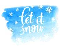 Το αφήστε να χιονίσει διανυσματικό διανυσματικό πρότυπο αφισών Στοκ φωτογραφίες με δικαίωμα ελεύθερης χρήσης