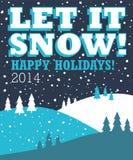 Το αφήστε να χιονίσει υπόβαθρο Χριστουγέννων Στοκ Εικόνες