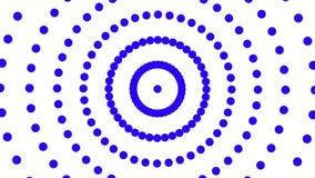 Το αφηρημένο άσπρο κυκλικό σχέδιο περιστρέφεται, σκηνικό disco, κάνοντας σήμα πληροφορίες επικοινωνιών, οπτικές ελεύθερη απεικόνιση δικαιώματος