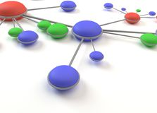 Το αφηρημένο δίκτυο περιβάλλει το κύτταρο τρισδιάστατο Στοκ φωτογραφία με δικαίωμα ελεύθερης χρήσης