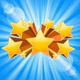 Το αστέρι εξερράγη το υπόβαθρο διανυσματική απεικόνιση
