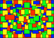 Το αφηρημένο γεωμετρικό υπόβαθρο των χρωματισμένων μπαλωμάτων Στοκ Φωτογραφία