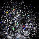 Το αφηρημένο ελαφρύ υπόβαθρο φυσήματος, σπινθηρίσματα φω'των χρώματος εκρήγνυται Στοκ Εικόνες