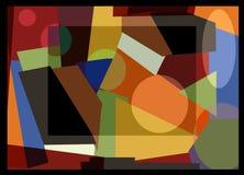 Το αφηρημένο ζωηρόχρωμο υπόβαθρο, φαντάζεται τις γεωμετρικές μορφές Στοκ Εικόνα