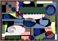 Το αφηρημένο ζωηρόχρωμο υπόβαθρο, φαντάζεται τις γεωμετρικές σκιασμένες μορφές Στοκ Εικόνα