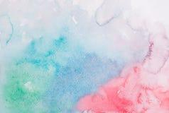 Το αφηρημένο ζωηρόχρωμο χέρι σύρει την ακουαρέλα watercolor Στοκ Εικόνα