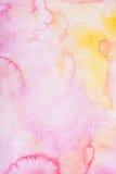 Το αφηρημένο ζωηρόχρωμο χέρι σύρει την ακουαρέλα watercolor Στοκ Εικόνες