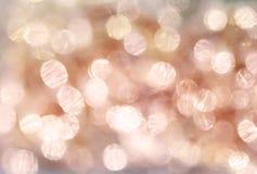το αφηρημένο καφετί υπόβαθρο φωτισμού bokeh Στοκ εικόνες με δικαίωμα ελεύθερης χρήσης