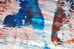 Το αφηρημένο κόκκινο και μπλε χέρι χρωμάτισε το ακρυλικό υπόβαθρο ελεύθερη απεικόνιση δικαιώματος
