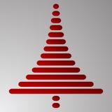 Το αφηρημένο κόκκινο χριστουγεννιάτικο δέντρο αποτελείται από τα ορθογώνια με τις στρογγυλευμένες γωνίες στο γκρίζο υπόβαθρο κλίσ Στοκ φωτογραφίες με δικαίωμα ελεύθερης χρήσης