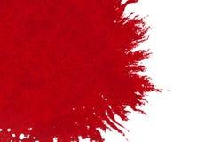 Το αφηρημένο κόκκινο watercolor μελανιού αίματος splatter καταβρέχει στο άσπρο υπόβαθρο, την επικίνδυνη φρίκη ή την ιατρική υγειο ελεύθερη απεικόνιση δικαιώματος