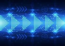 Το αφηρημένο μέλλον μεταφορτώνει το υπόβαθρο συστημάτων τεχνολογίας, διανυσματική απεικόνιση απεικόνιση αποθεμάτων
