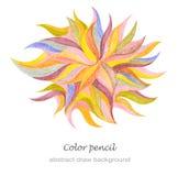 Το αφηρημένο μολύβι χρώματος σύρει Στοκ φωτογραφίες με δικαίωμα ελεύθερης χρήσης