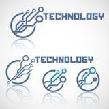 Το αφηρημένο λογότυπο τεχνολογίας με απεικονίζει Στοκ εικόνες με δικαίωμα ελεύθερης χρήσης