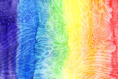 Το αφηρημένο ουράνιο τόξο watercolor χρωματίζει το υπόβαθρο Στοκ Φωτογραφίες