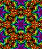 Το αφηρημένο πολύχρωμο floral σχέδιο μωσαϊκών, ζωηρόχρωμο υπόβαθρο σύστασης κεραμιδιών, ουράνιο τόξο χρωμάτισε την άνευ ραφής απε Στοκ εικόνες με δικαίωμα ελεύθερης χρήσης
