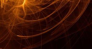 Το αφηρημένο πορτοκαλί, κίτρινο, χρυσό φως καίγεται, ακτίνες, μορφές στο σκοτεινό υπόβαθρο Στοκ φωτογραφία με δικαίωμα ελεύθερης χρήσης
