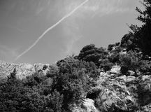 Το αφηρημένο σεληνόφωτο λάμπει αντανάκλαση στη δυναμική υγρή κίνηση Στοκ Φωτογραφία