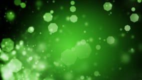Το αφηρημένο σκούρο πράσινο υπόβαθρο Χριστουγέννων με το bokeh τα φω'τα διανυσματική απεικόνιση