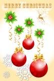 Το αφηρημένο σχέδιο καρτών της έννοιας σφαιρών Χριστουγέννων, διακόσμηση αντιτίθεται - διανυσματικό eps10 διανυσματική απεικόνιση