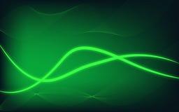 Το αφηρημένο σύγχρονο υπόβαθρο πυράκτωσης με το πράσινο θέμα ελεύθερη απεικόνιση δικαιώματος