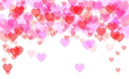 Το αφηρημένο υπόβαθρο βαλεντίνων καρδιών εορταστικό στοκ εικόνα