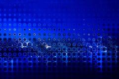 Το αφηρημένο υπόβαθρο κάμπτει το μπλε αριθμών Στοκ Εικόνα