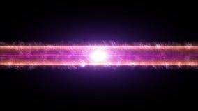 Το αφηρημένο υπόβαθρο κόκκινων χρωμάτων κινήσεων, να λάμψει φω'τα, σπινθηρίζει όπως τα μόρια, άνευ ραφής βρόχος ικανός ελεύθερη απεικόνιση δικαιώματος