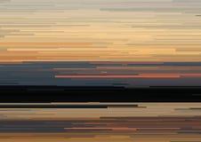 Το αφηρημένο υπόβαθρο με τα οριζόντια λωρίδες, γραμμές ρευμάτων Έννοια της αισθητικής του λάθους σημάτων Στοκ εικόνα με δικαίωμα ελεύθερης χρήσης