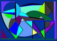 Το αφηρημένο υπόβαθρο, φαντάζεται τις γεωμετρικές ζωηρόχρωμες πορφυρές μπλε μορφές Στοκ Φωτογραφία