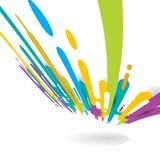 Το αφηρημένο φωτεινό χρώμα που στρογγυλεύεται διαμορφώνει το υπόβαθρο προοπτικής μετάβασης γραμμών με το διάστημα αντιγράφων Φωτε ελεύθερη απεικόνιση δικαιώματος