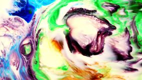 Το αφηρημένο φύσημα χρωμάτων μελανιού τέχνης εκρήγνυται την αναταραχή φιλμ μικρού μήκους