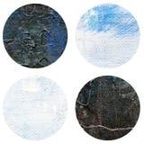 Το αφηρημένο χέρι χρωμάτισε την ακρυλική σύσταση κύκλων στο άσπρο και μαύρο χρώμα Στοκ φωτογραφία με δικαίωμα ελεύθερης χρήσης