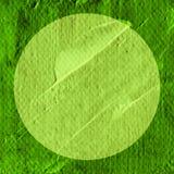 Το αφηρημένο χέρι χρωμάτισε την ακρυλική σύσταση κύκλων στο πράσινο χρώμα Στοκ Εικόνα