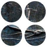 Το αφηρημένο χέρι χρωμάτισε την ακρυλική σύσταση κύκλων Στοκ εικόνα με δικαίωμα ελεύθερης χρήσης