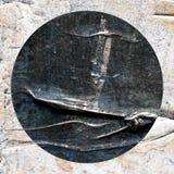 Το αφηρημένο χέρι χρωμάτισε την ακρυλική σύσταση κύκλων Στοκ Εικόνες